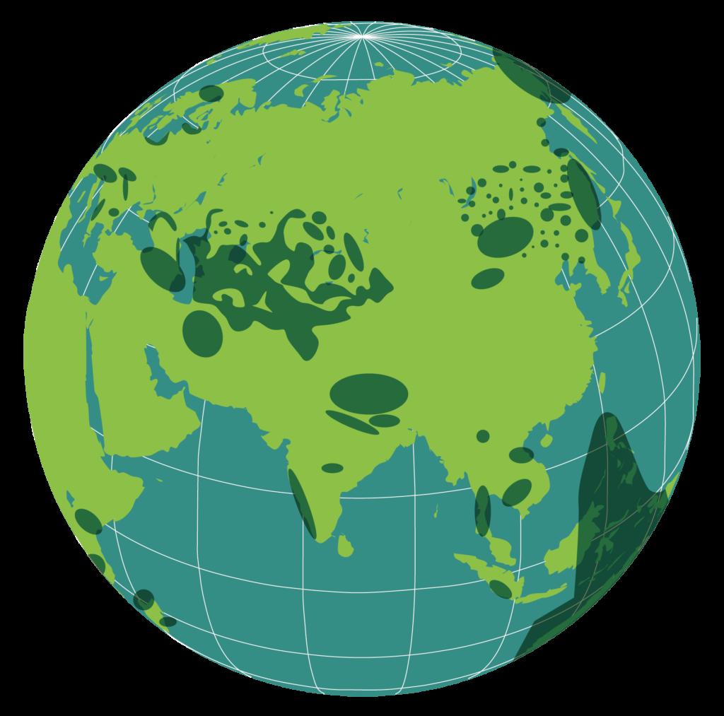 Largelandscape 3 on globe
